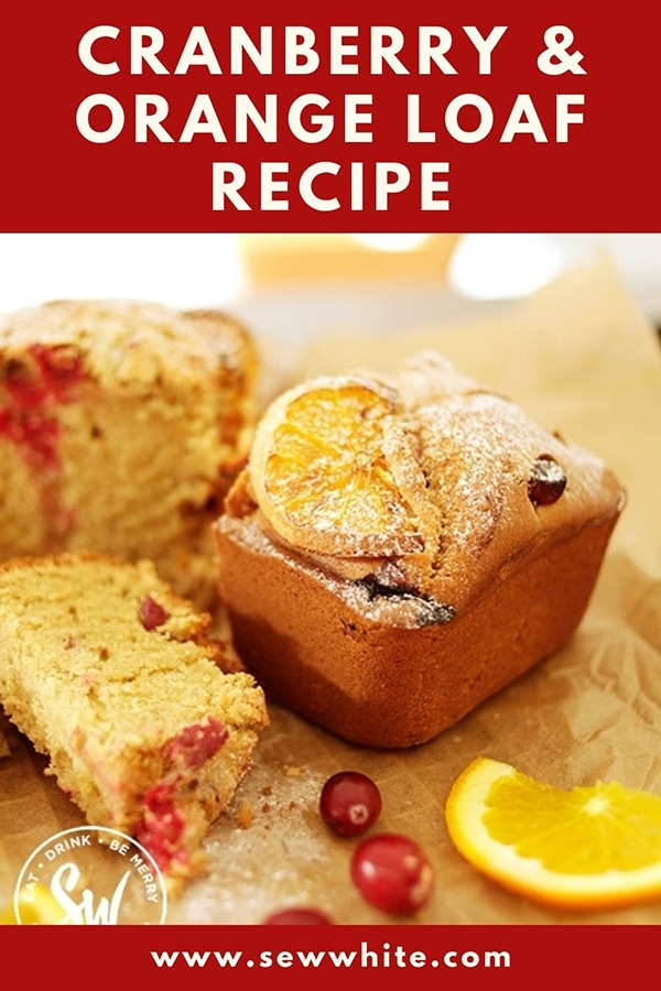 cranberry and orange loaf recipe pin