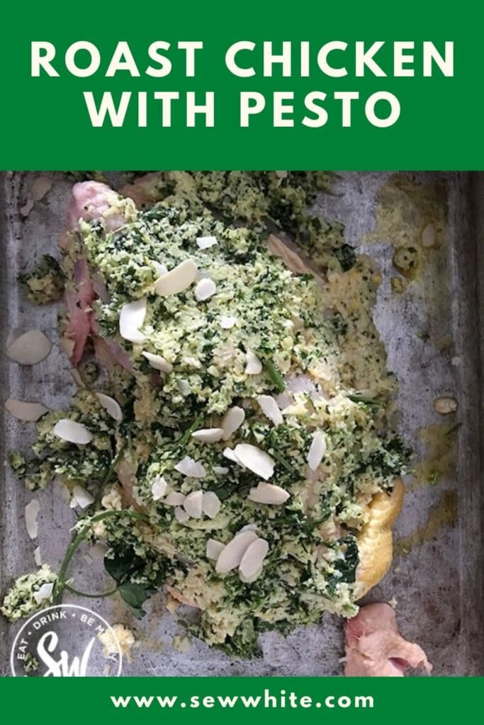 roast chicken with pesto