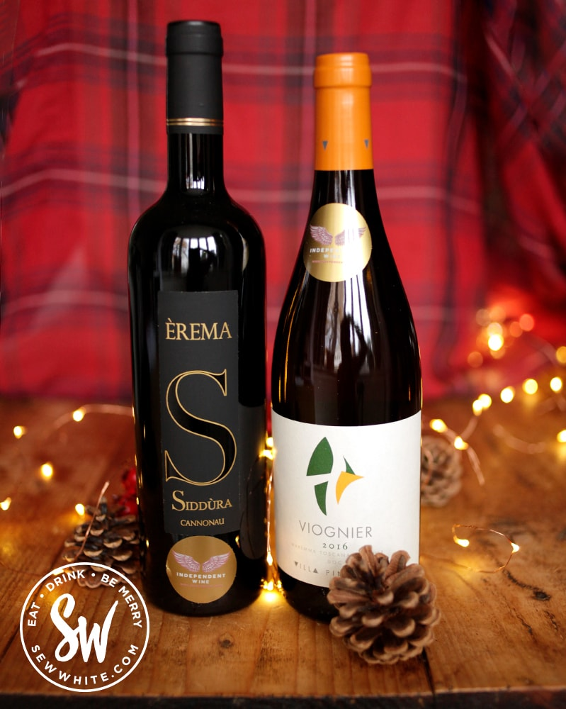Independent Wine company's Italian wine Siddura and Viognier in the drink gift guide