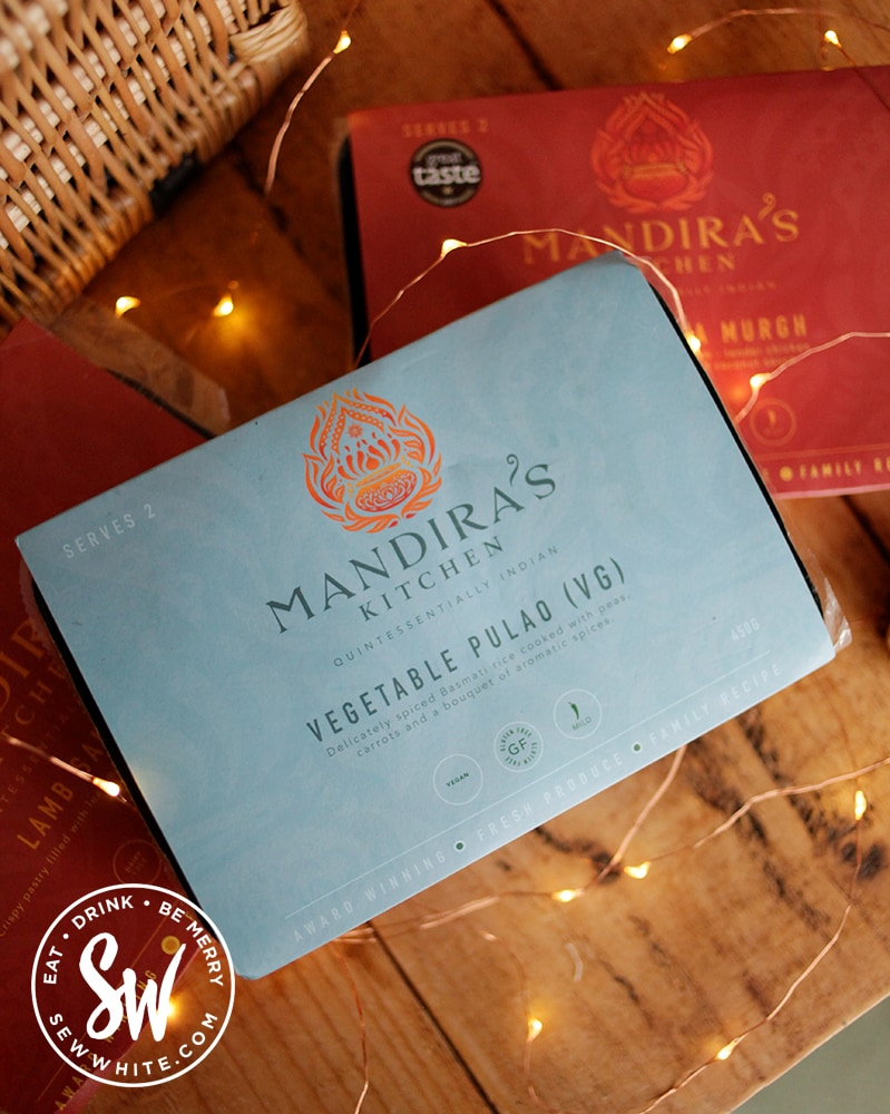 Mandira's Kitchen Vegetable Pulao Rice in the Eat Gift Guide