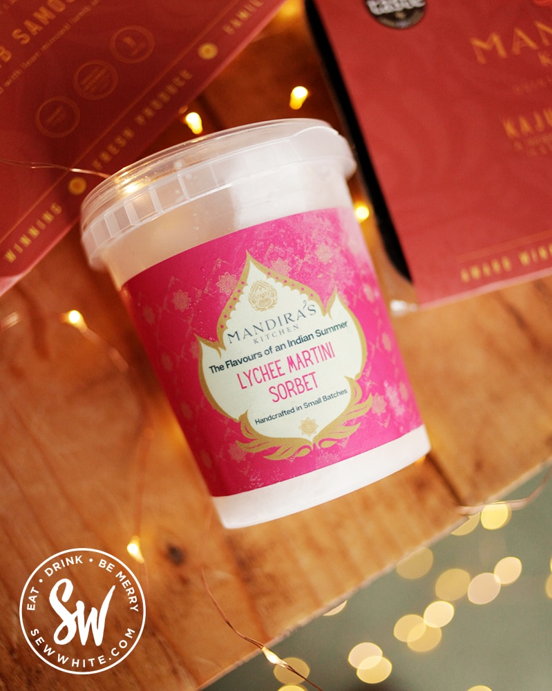 Lychee Martini Sorbet by Mandira's Kitchen in the Eat Gift Guide