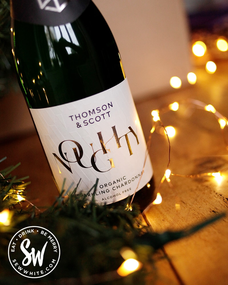 Noughty Organic Sparkling Chardonnay in the drink gift guide