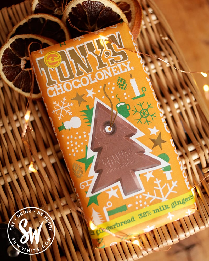 Tony's Chocolonely gingerbread bar for Christmas in the Eat Gift Guide