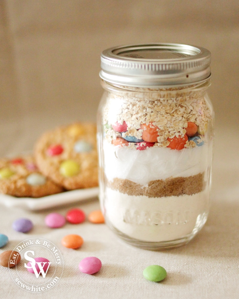 cookie jars how to make guide with layered jam jar filled with cookie mix