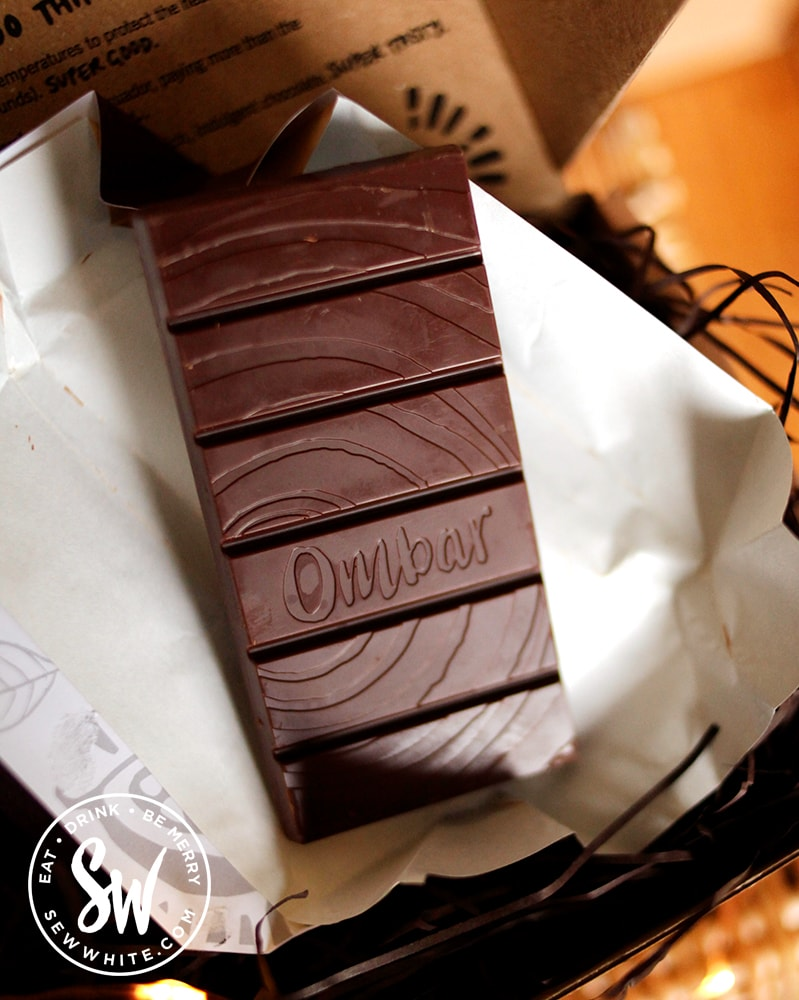 Om Bar vegan chocolate bar in the Eat Gift Guide