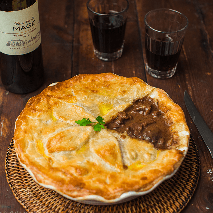 steak pie with golden brown pastry for Family Favourite Meat Dishes