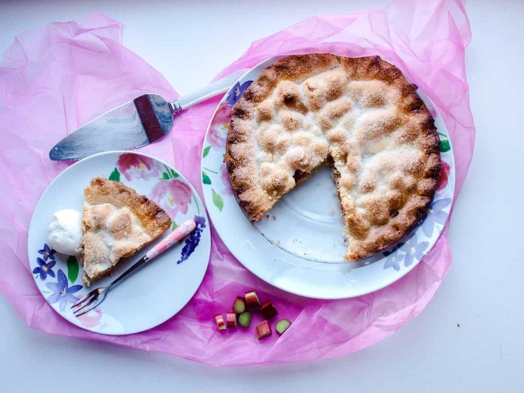 Rhubarb Tart in the Perfect Spring Desserts round up