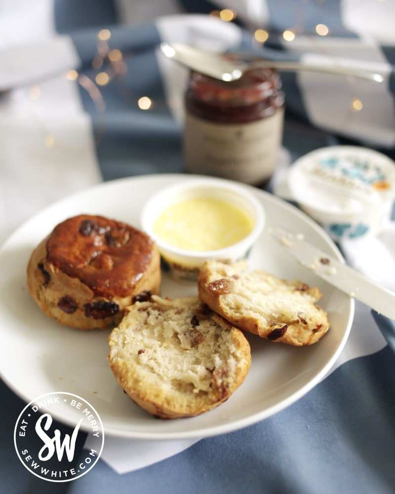 fresh fruit scones with clotted cream and strawberry jam from Noble House in the best picnic accessories round up