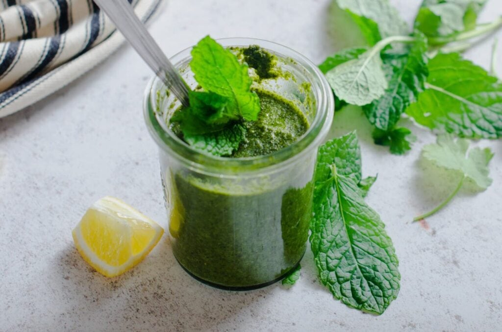 green chutney in the Recipes using seasonal fruits and vegetables round up
